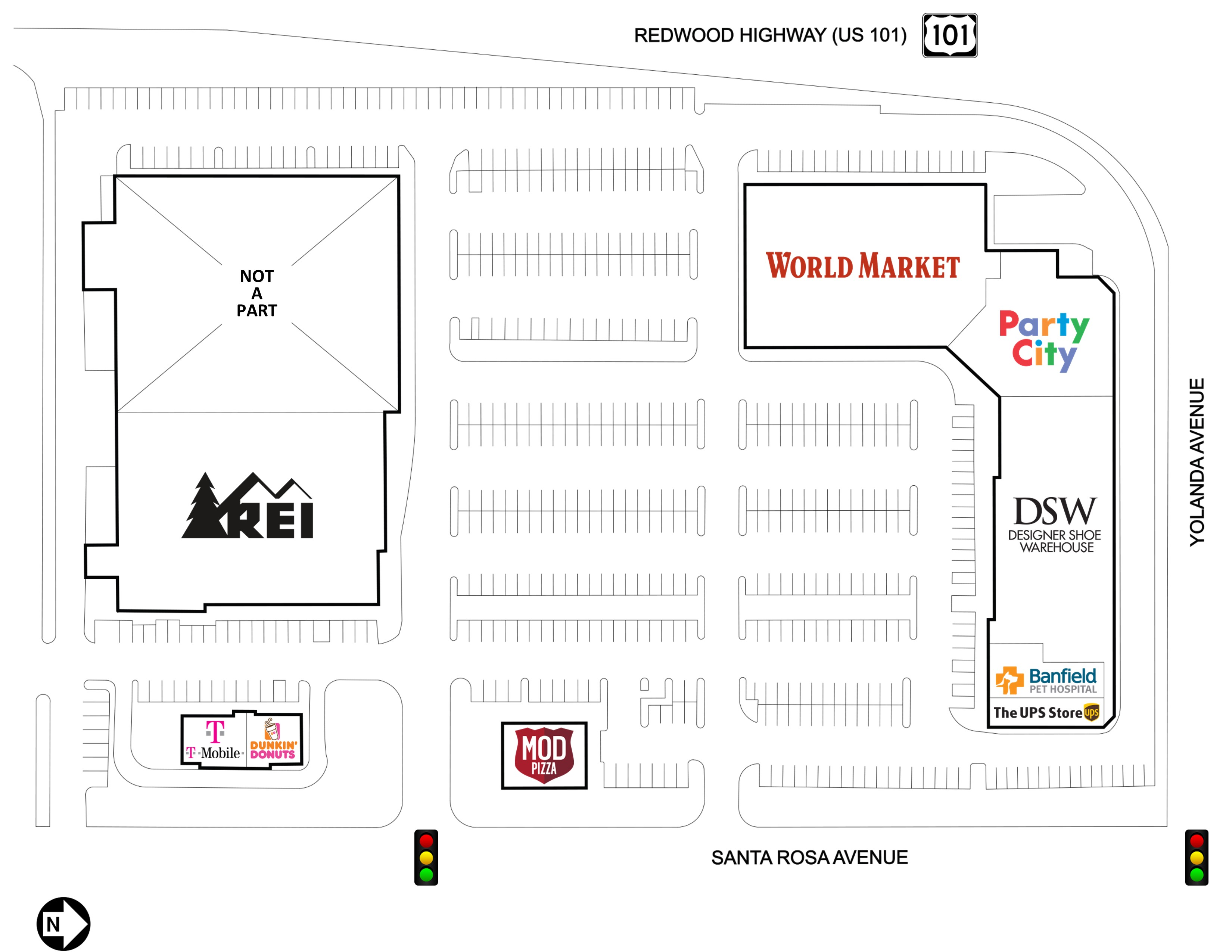 santa rosa southside shopping center shopping centers prty details retail opportunity investments corp